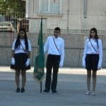 Посрещане знамето на училището